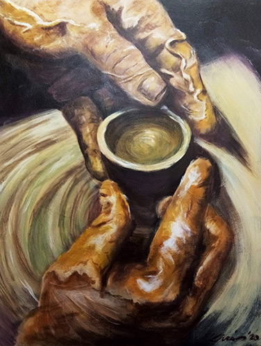 Pottery Hands by Chris Threadwell